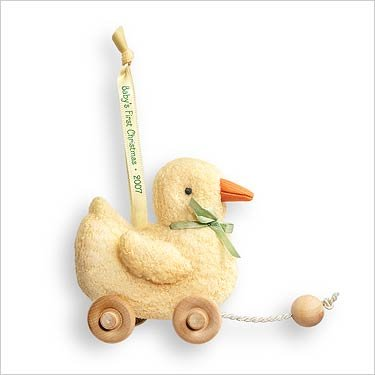 Hallmark Keepsake Ornament QXG6107 2007 Baby's First Christmas Duck ()