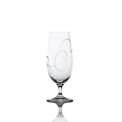 Mikasa Beverage Glass - Mikasa Love Story Crystal Iced Beverage Glass, 15.5-Ounce