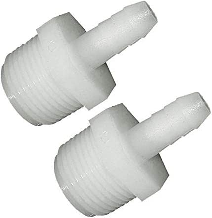 2 Pack 3//8 Male Pipe Thread x Insert Nylon Adapters