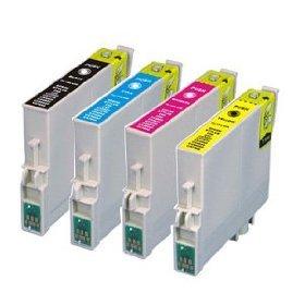 4 Pack Epson Ink Cartridges for Epson Stylus C68, C88, C88+, CX3800, CX3810, CX4200, CX4800, CX5800F, CX7800 (Epson 88 Ink)