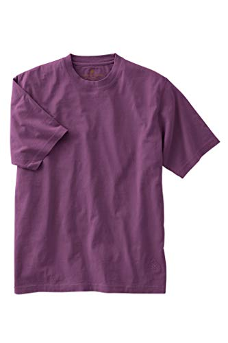 Territory Ahead Mens Casual Soft Cotton Crew Short Sleeve T-Shirt Purple -