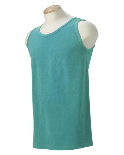 Comfort Colors Men's Ringspun Garment-Dyed Tank - Seafoam 9360 (Ringspun Sleeveless T-shirt)