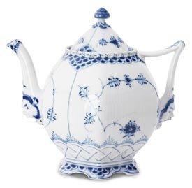 Royal Copenhagen Blue Fluted Full Lace Large Teapot Fluted Teapot