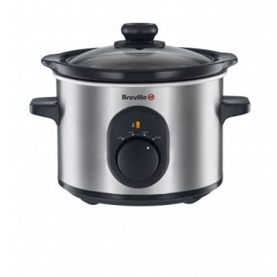 -[ Breville VTP169 Compact Slow Cooker, 1.5 L - Silver  ]-
