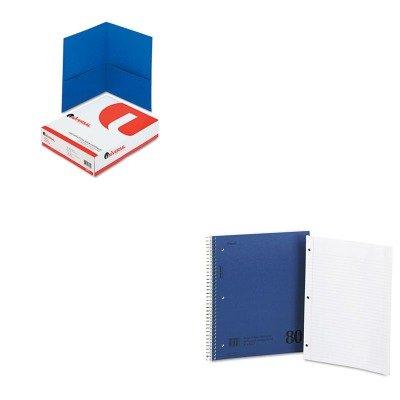 KITMEA06548UNV56601 - Value Kit - Mead Mid Tier Single Subject Notebook (MEA06548) and Universal Two-Pocket Portfolio (UNV56601) (Portfolios Single Pocket)