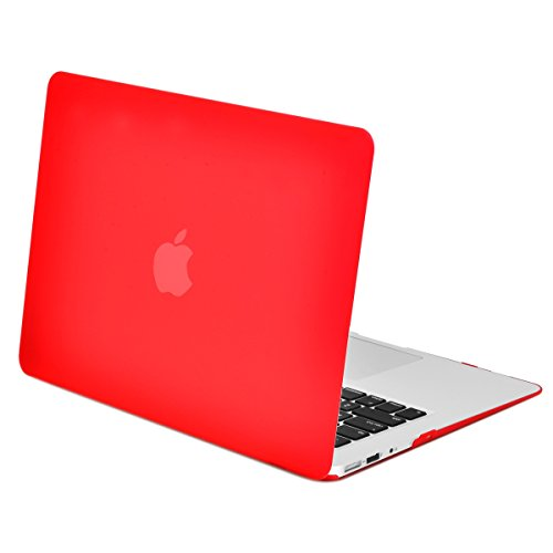- TOP CASE - Rubberized Hard Case Cover Compatible with Apple MacBook Air 13