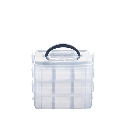 Gospire 3 Layer Portable Plastic Nail Art Makeup Container Manicure Storage Boxes