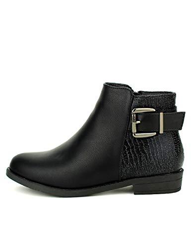 Cendriyon Femme Bottines Noir Catisa Chaussures Noires 747qA