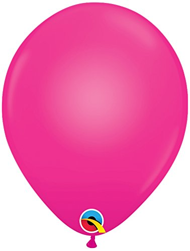 Pioneer National Latex Qualatex Q-Lite LED Light up Latex Party Pack (30 Balloons) Supplies, Magenta, 10''