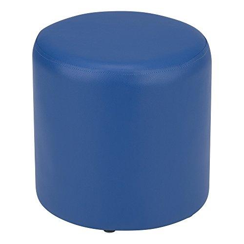 Fat Catalog Kids Round Soft Seating Stool, Dark Blue, ALT-SF-325-DB (Children Catalog)