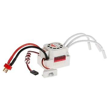 Faironly Splatinum Set Impermeabile 3650/3900/kV//4300KV//5200KV con Motore brushless 60/a ESC per 1//10/RC Auto Camion Kv3900
