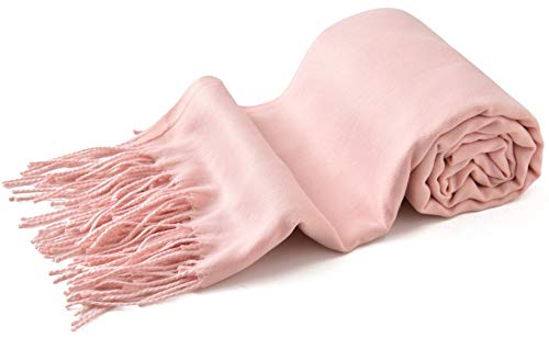 Baby Pink Thick Solid Color Design Cotton Blend Shawl Scarf Wrap Pashmina CJ Apparel NEW