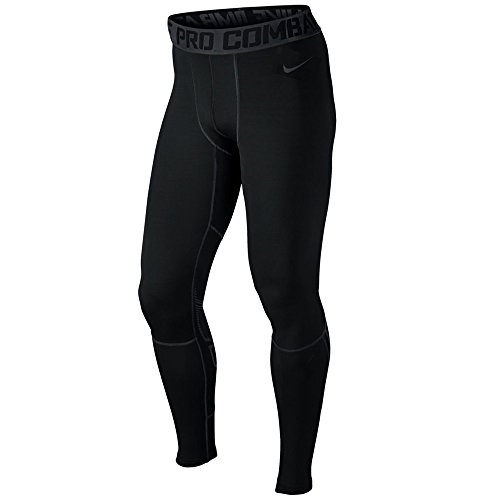 Tight Winter Nike Pro - Nike Men's Pro Hyperwarm Compression Tights (Black/Carbon Heather, 3XL)