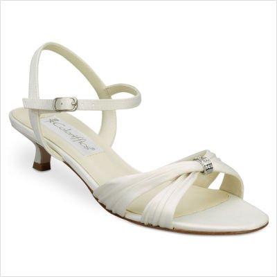 Coloriffics Low Heel Heels - Coloriffics Women's Andie Sandal White