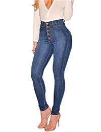 Rookay RK Women High Waist Stretch Skinny Denim Jeans with Pockets Butt Lifting