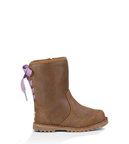 UGG Little Kids Corene Boot Chocolate Size 10 M US Toddler (Ugg Boots Back Zipper)