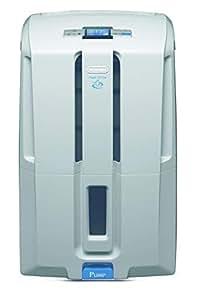 De'Longhi DD230P Deshumidificador Multifunción, 30 L/d, sistema bombeo y drenaje continuo, depósito extraíble 7 L, gas ecológico, temporizador programable 540 W, 51 Decibeles, Blanco y gris