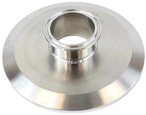 BVV 4 Inch x 1.5 Inch 304 Stainless Steel Flat Tri-Clamp Reducer by BEST VALUE VACS