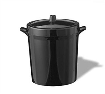 Service Ideas IB3BL Ice Bucket, Black, 3 L