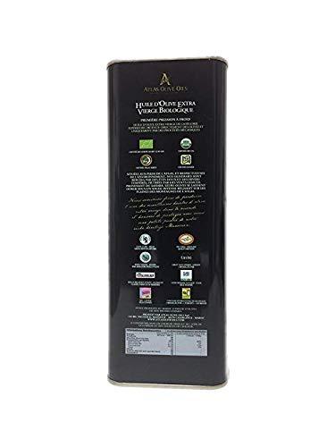 Atlas Olive Oils - Organic Extra Virgin Olive Oil (Tin 5 Litres/ 169.07 Fl Oz.)