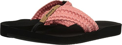 Reef - Womens Cushion Threads Sandals, Size: 5 B(M) US, Color: Coral