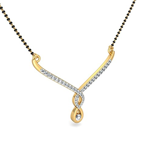 Or jaune 18 K 0,54 CT TW White-diamond (IJ | SI) Mangalsutra