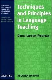 Techniques and Principles in Language Teaching 2nd (second) edition Text Only PDF