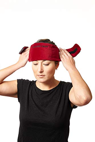 DreamTime Healing Heat Migraine Wrap, Black/Red, Eye Mask Travel Pillow for Migraine Relief, Headache Relief and Stress Relief, Soothing Eye Mask for Wellness and Relaxation
