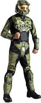 [Halo 3 Deluxe Adult Video Game Costume] (Halo 3 Deluxe Master Chief Costume)