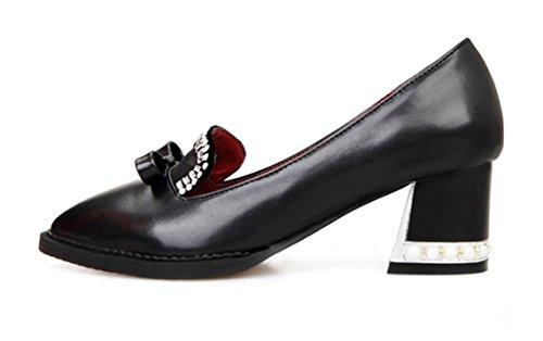 PU artificiale YCMDM Formato dei pattini di cuoio pattini casuali delle donne , black , 40