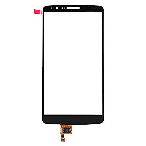 LUVSS New Touch Screen Digitizer [LCD not Included] Replacement for LG G3 D850 D855 VS985 D830 D851 Touch Digitizer Front Outer Glass Lens with Adhesive Pre-installed Repair Part (Black)
