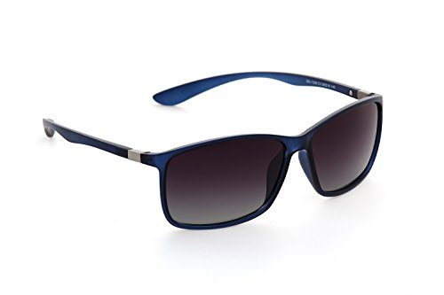 DESPADA Made In ITALY Wayfarer Sunglasses - ( Matte Blue,Dark Blue )Plastic Frames - UV Ray Protected Shades For Men & Women DS1338 - Sunglasses Shade In The Made