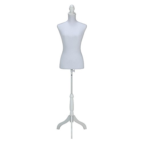 Homegear Female Lady Mannequin Torso Form with Tripod Stand for Displays/Photography Black/White / Pattern - Mannequin Form