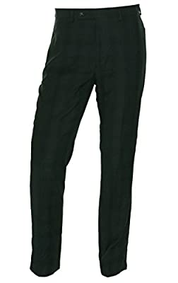 Calvin Klein Slim Fit Charcoal Plaid New Men's Flat Front Dress Pants