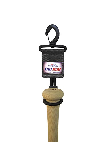 BatBob Baseball Bat Holder Dugout Organizer for Baseball Softball (Black)
