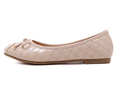 Fortuning's JDS rundem süße Bowknot Weiß flache Schuhe Kopf und Weiche Aus mit Schuhe rrOdwqx