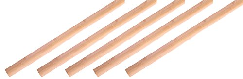 Prefinished Natural (AMERIQUE 30' Linear Prefinished Solid NATURAL Bamboo Quarter Rounds, 72
