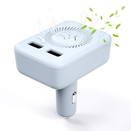 VDIAGTOOL Auto Luftreiniger mit USB-Autoladung, 2 in 1 tragbarer UVC Luftfilter Lufterfrischer kann Luftreinigung durch tiefes ultraviolettes und Negatives Ion, 360 Grad Staub/Rauch/Gerüche entfernen