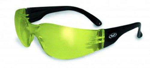 Yellow Eyewear (Global Vision Eyewear Rider Anti-Fog Safety Glasses, Yellow Tint Lens)