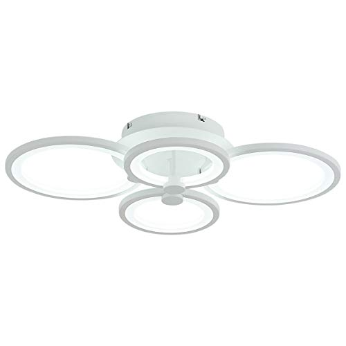 Modern Chandelier Dimmable LED Flush Mount Ceiling Light for Living Room Bedroom 4000lm 50W, 6000k, by Royal Pearl