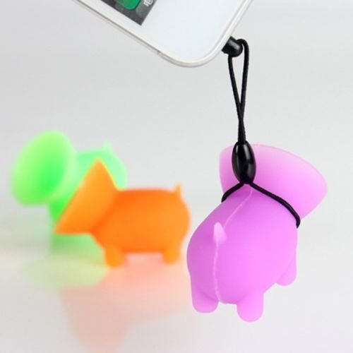 Efanr 5Pcs Universal Cute Mini Pig Shaped Silicone Rubber Cuction Cup Smart Phone Cellphone Stand Holder Mount for iPhone 7 6 6 plus 5C 5S 4S iPad Air Mini Tablet Samsung Galaxy S7 HTC one M8 M7 LG