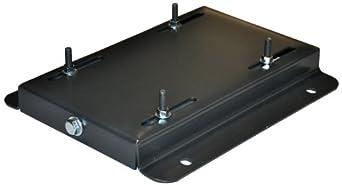 Adjustable steel motor mounting base for nema frames 215t for Nema 23 motor mount plate