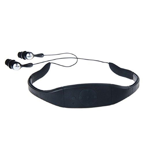 Bestpriceam Waterproof Mp3 Music Player for Swimming SPA, 4G 4GB, Black
