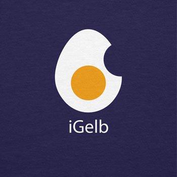 Texlab iGelb - Damen T-Shirt, Größe XL, Navy