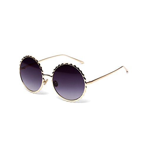 Vintage UV400 metálico polarizadas Unisex Gafas inspirado Polarizado Libre al Sol Sunglasses de Clásico Aire Redondo Portección wwZ706