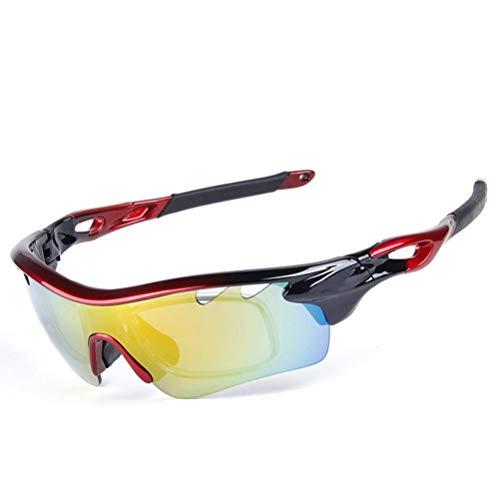 Doherty Gepolariseerde sportzonnebril voor dames en heren, rijden fietsen hardlopen golffiets zonnebril UV-bescherming…