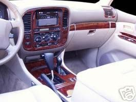 TOYOTA LAND CRUISER INTERIOR BURL WOOD DASH TRIM KIT SET 1998 1999 2000 2001 2002 (American Dash Trim)
