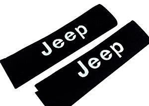 One Pair Seat Belt Cover Shoulder Pad Fit For Jeep Car Model