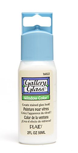 Plaid Gallery Glass Window Color in Assorted Colors (2 oz), 16022, Clear Frost