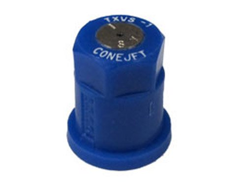 TeeJet TX-VS1 Hollow Cone Spray Tip, 0.033-0.053 GPM, 40-120 psi, Stainless Steel - Blue